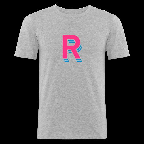 RRR Logo - Männer Slim Fit T-Shirt
