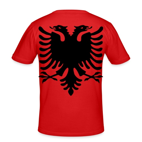 XXL Doppelkopfadler Motiv auf dem Rücken - Männer Slim Fit T-Shirt