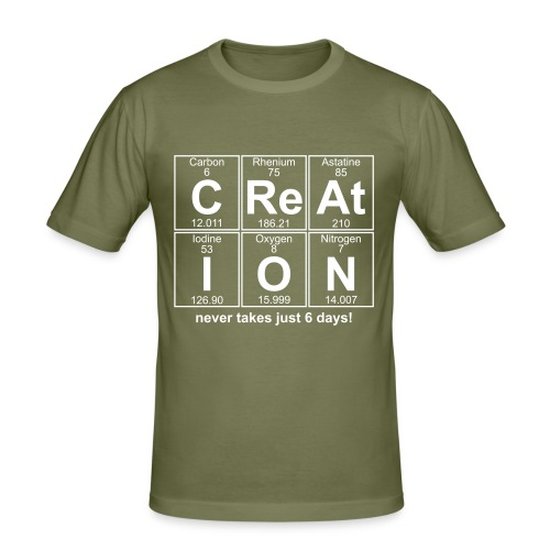 Creation never takes just 6 days. - Men's Slim Fit T-Shirt