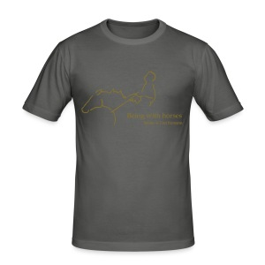 MPS Rider, Men Slim Shirt ( Print: Gold Metallic) - Männer Slim Fit T-Shirt