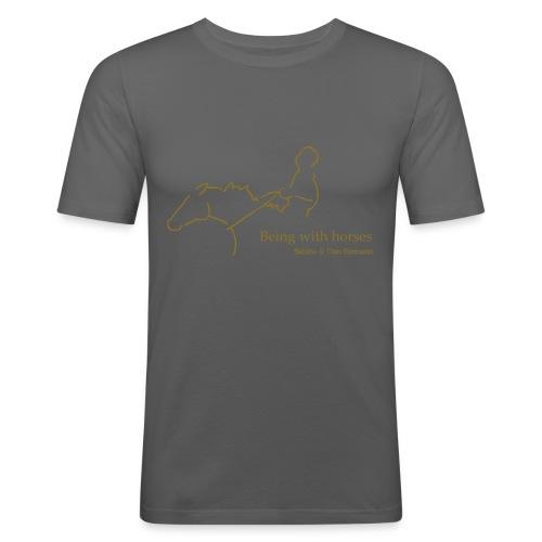 MPS Rider, Men Slim Shirt ( Print: Gold Metallic) - Männer Slim Fit T-Shirt