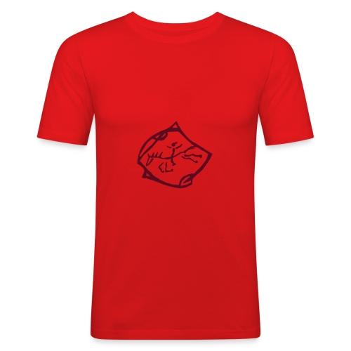 Free Rider  Men Slim Shirt ( Print: Digital Burgundy) - Männer Slim Fit T-Shirt