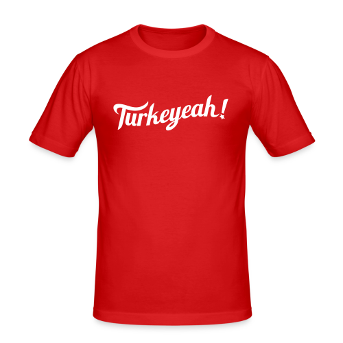 Turkeyeah! Wave Men T-Shirt Red Slim Fit - Männer Slim Fit T-Shirt