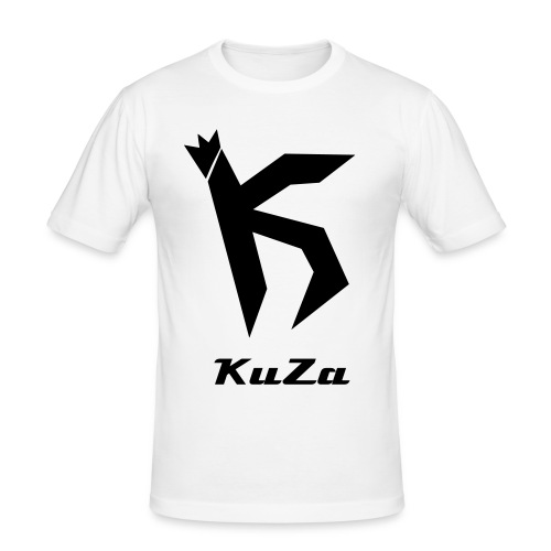 KuZa Logo Shirt - Männer Slim Fit T-Shirt