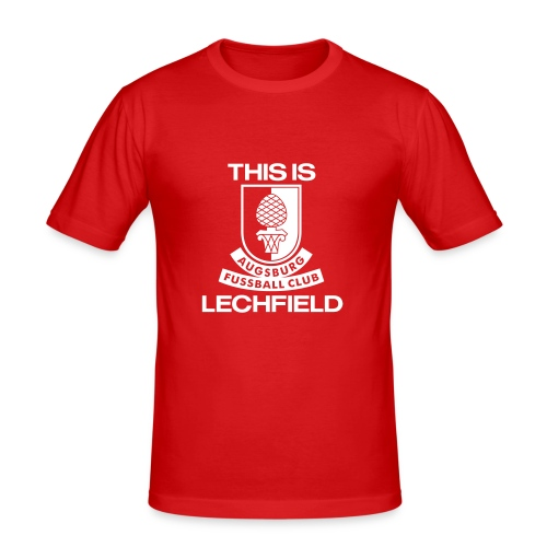 This is Lechfield (red/white) - Männer Slim Fit T-Shirt