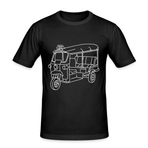 Tuk-Tuk, Taxi aus Indien oder Thailand - Männer Slim Fit T-Shirt
