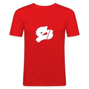 SB-Rot-ws - Männer Slim Fit T-Shirt