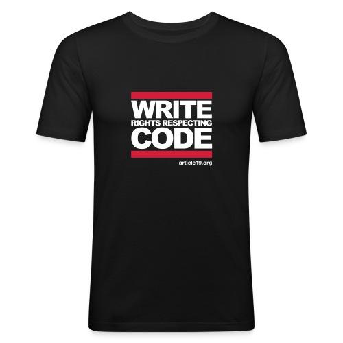 Men Slim Write Code - Men's Slim Fit T-Shirt