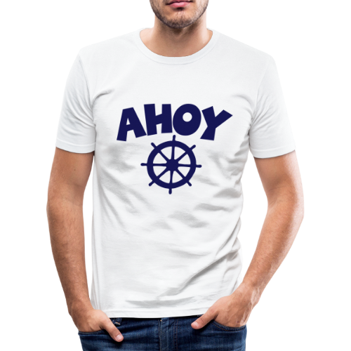 AHOY Wheel Slim Fit  T-Shirt - Männer Slim Fit T-Shirt