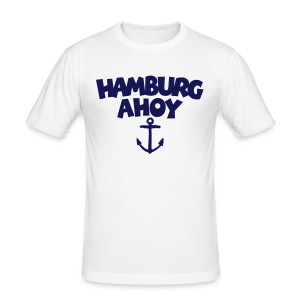 Hamburg Ahoy (Anker) Slim Fit T-Shirt - Männer Slim Fit T-Shirt