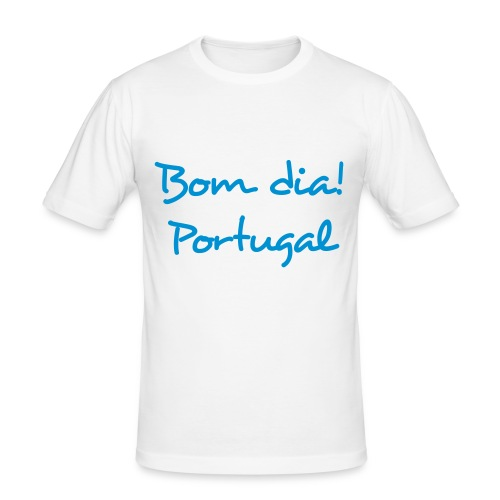 Bom Dia! Portugal T-Shirt - Männer Slim Fit T-Shirt