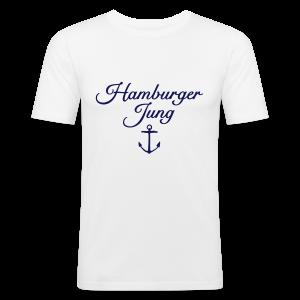 Hamburger Jung Anker Classic Slim Fit T-Shirt - Männer Slim Fit T-Shirt