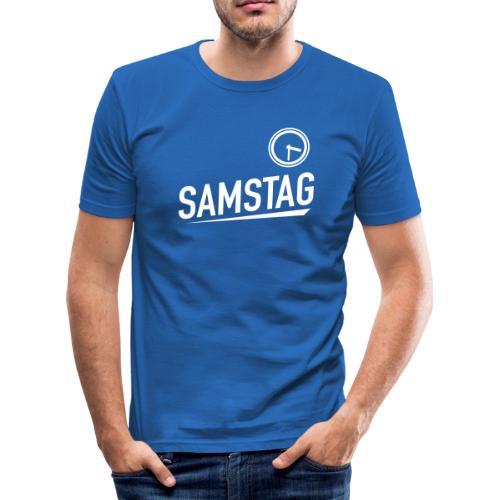 SAMSTAG HALB 4 - Männer Slim Fit T-Shirt