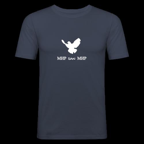 Friedenstaube-Nu gugge - Männer Slim Fit T-Shirt