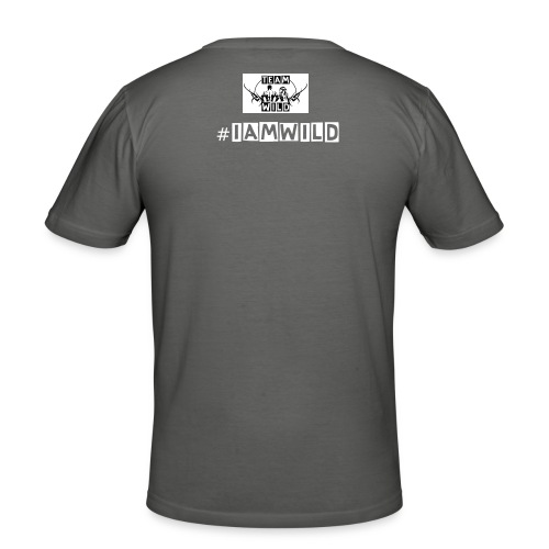NOT  HERE TO TALK #TEAMWILD - Men's Slim Fit T-Shirt