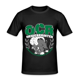 OCR Heidesprinter Wappen + OCR Logo Slim Fit T-Shirt (Männer) - Männer Slim Fit T-Shirt