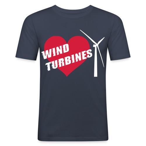 I love wind turbines! T-Shirts - Men's Slim Fit T-Shirt