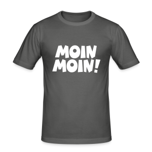 Moin Moin! Slim Fit T-Shirt - Männer Slim Fit T-Shirt