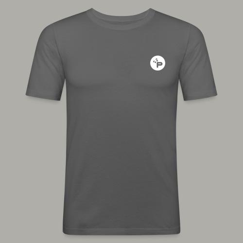 Pandastic Casual T White print - Männer Slim Fit T-Shirt