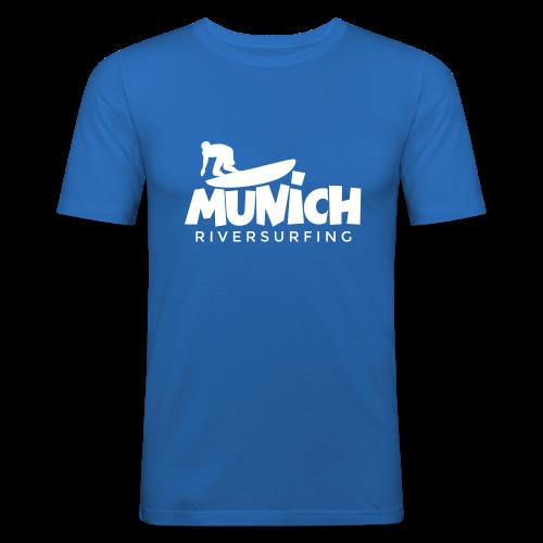 Munich Riversurfing Slim Fit T-Shirt - Männer Slim Fit T-Shirt
