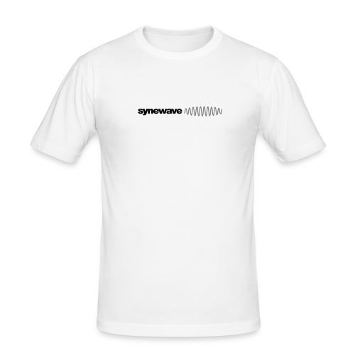 Synewave Mens Classic White - Men's Slim Fit T-Shirt