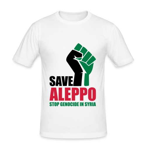 SAVE ALEPPO - Men's Slim Fit T-Shirt