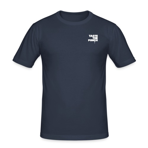 TTP Classic Slim Fit Navy Tee for Men with white print - Men's Slim Fit T-Shirt