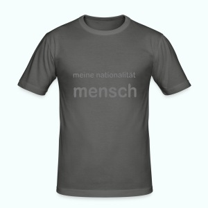 nationalität mensch - Männer Slim Fit T-Shirt