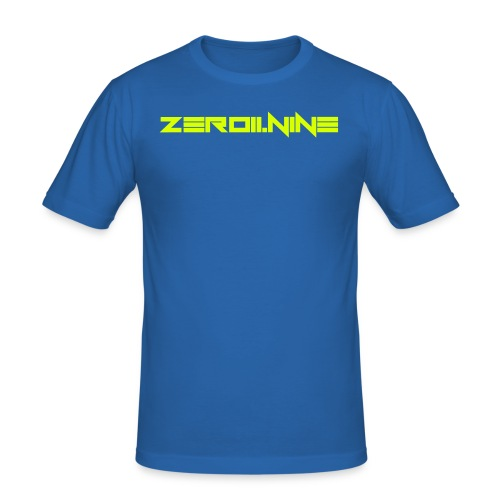 ZEROIININE neon yellow - Men's Slim Fit T-Shirt