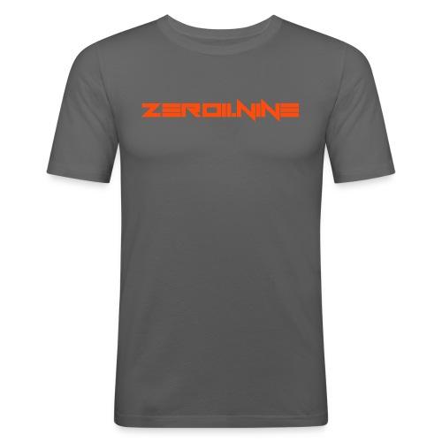 ZEROIININE neon orange - Men's Slim Fit T-Shirt