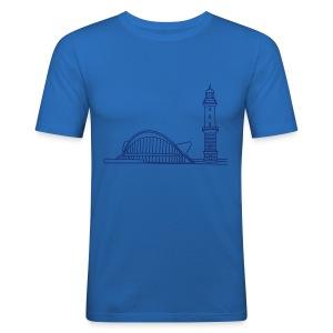Leuchtturm Warnemünde Rostock. - Männer Slim Fit T-Shirt
