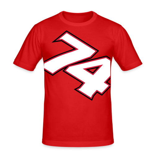 NEW! #74 Red/White, slim fit t-shirt - Slim Fit T-shirt herr