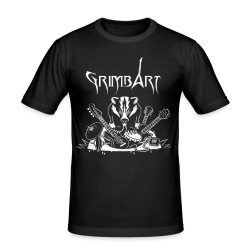 Herren T-Hemd - Rückendruck (figurbetont) - Männer Slim Fit T-Shirt