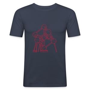 Atomium Brüssel - Männer Slim Fit T-Shirt