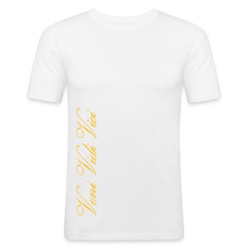 Miesten Slim Fit T-Paita Veni Vidi Vici - Miesten tyköistuva t-paita