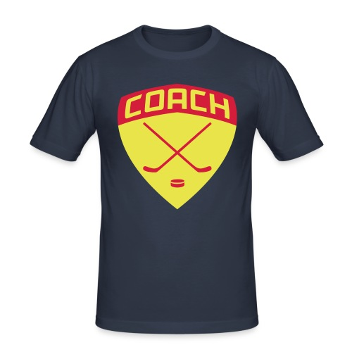 Ice Hockey Coach Men's Slim Fit T-Shirt - Men's Slim Fit T-Shirt