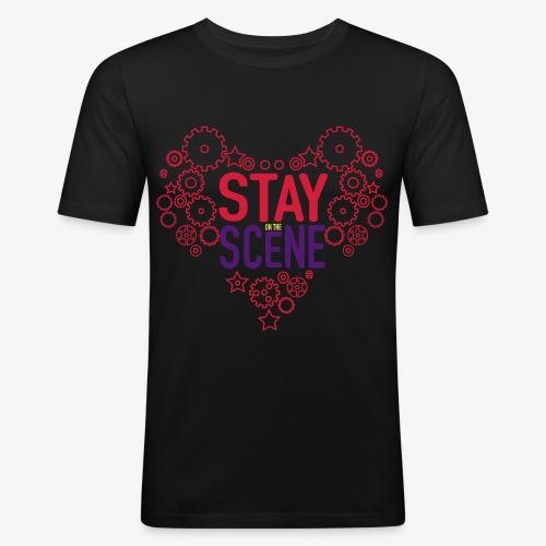 Stay on the Scene - Slim Fit T-shirt herr