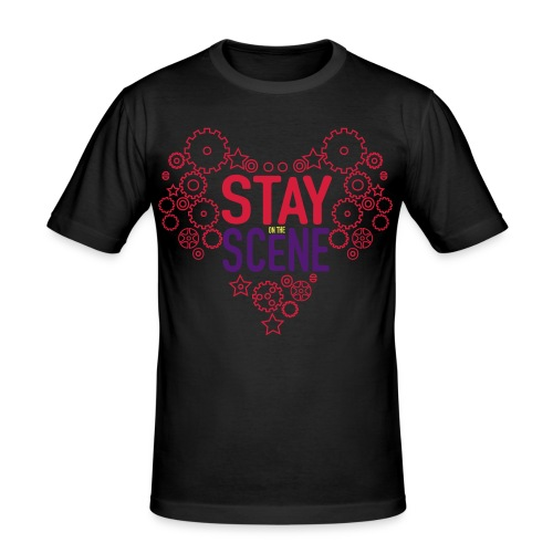 Stay on the Scene - Slim Fit T-shirt herr