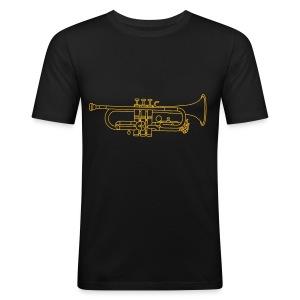 Trompete Blechblasinstrument - Männer Slim Fit T-Shirt