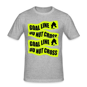 Goal Line Do Not Cross Men's Slim Fit T-Shirt - Men's Slim Fit T-Shirt