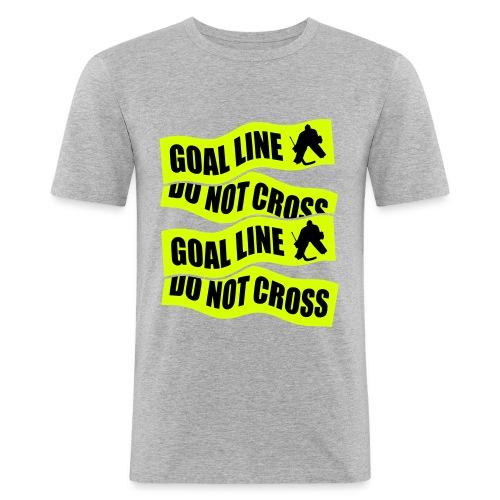 Goal Line Do Not Cross Men's Slim Fit T-Shirt - Men's Slim Fit T-Shirt