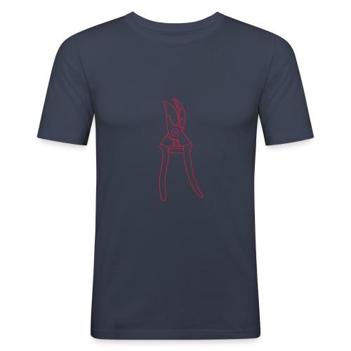 Gartenschere Rosenschere - Männer Slim Fit T-Shirt