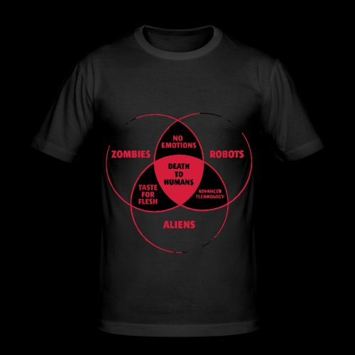 Death to humans - Männer Slim Fit T-Shirt