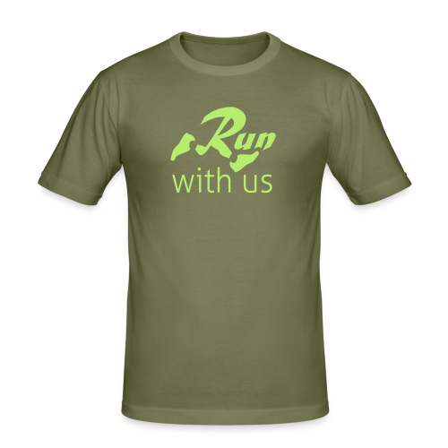 Run with us - slimfit - Männer Slim Fit T-Shirt