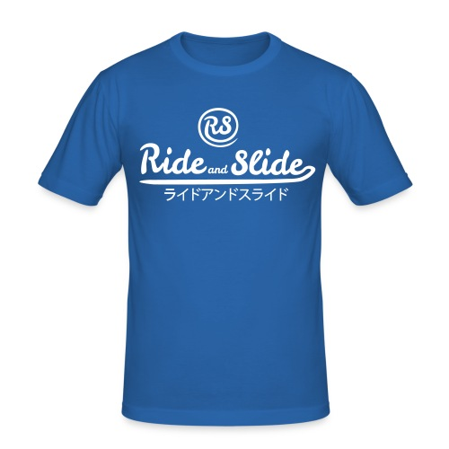 T-shirt blue RSJPN white men - T-shirt près du corps Homme
