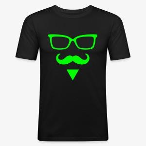 Hipster Dreieck Triangle Kult cooles T-Shirt - Männer Slim Fit T-Shirt