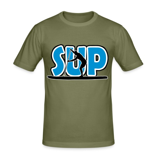 Männer Slim-Fit-T-Shirt: SUP - Männer Slim Fit T-Shirt
