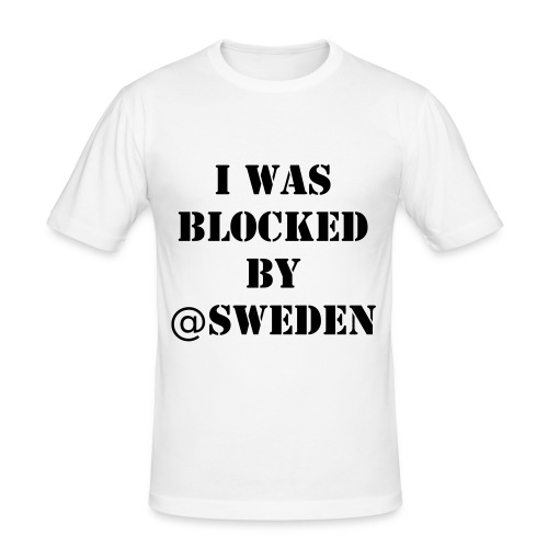Slim Fit t-shirt herr - Blocked by Sweden - Slim Fit T-shirt herr