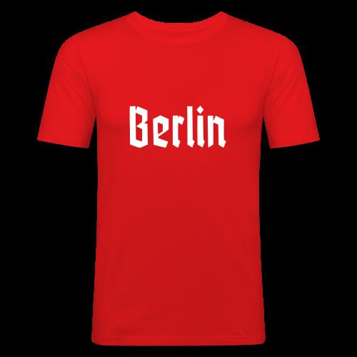 BERLIN Fraktur Berlinschrift - Männer Slim Fit T-Shirt