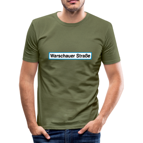 Warschauer Straße Berlin - Männer Slim Fit T-Shirt